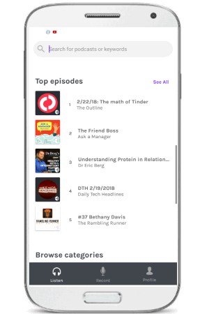 anchor the podcasts by others