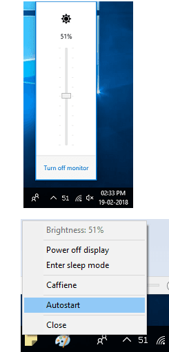 brightnessTray slider free for windows 10