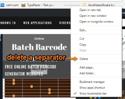 delete a separator