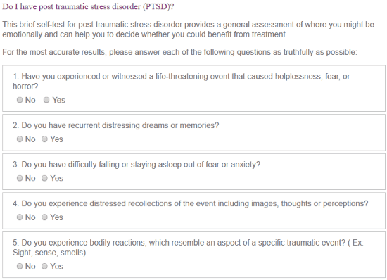 Do I Have Ptsd Or Anxiety Quiz - Etuttor