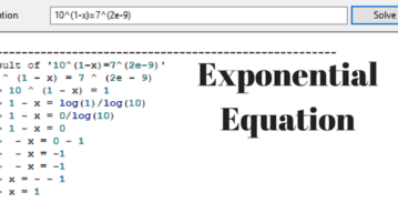 Free Exponential Equation Calculator Software For Windows