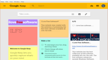 free google keep desktop client software for windows