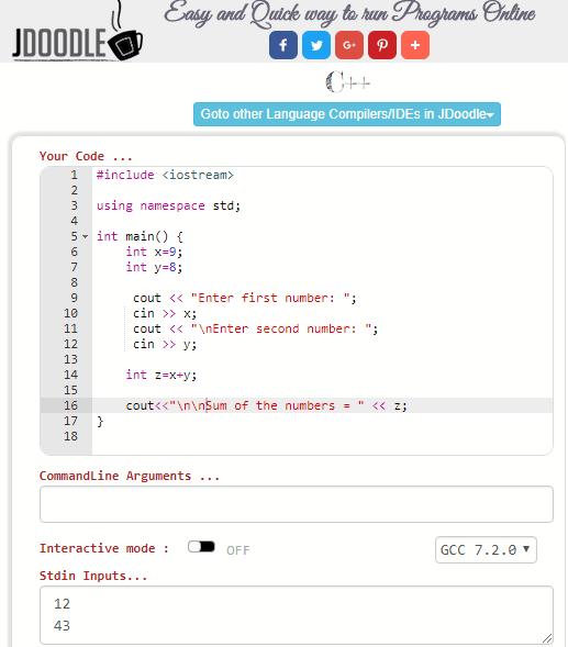 jdoodle free online code editor