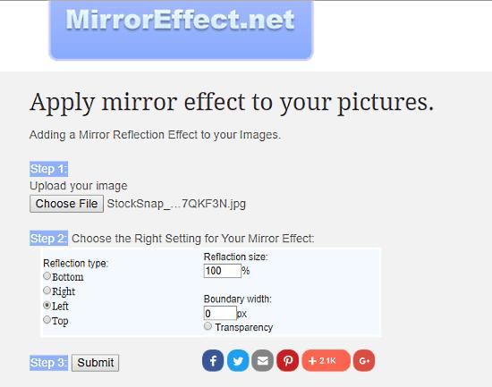 MirrorEffect: mirror image