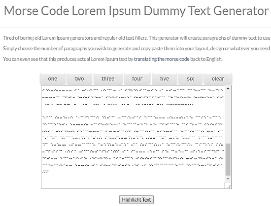random morse code generator