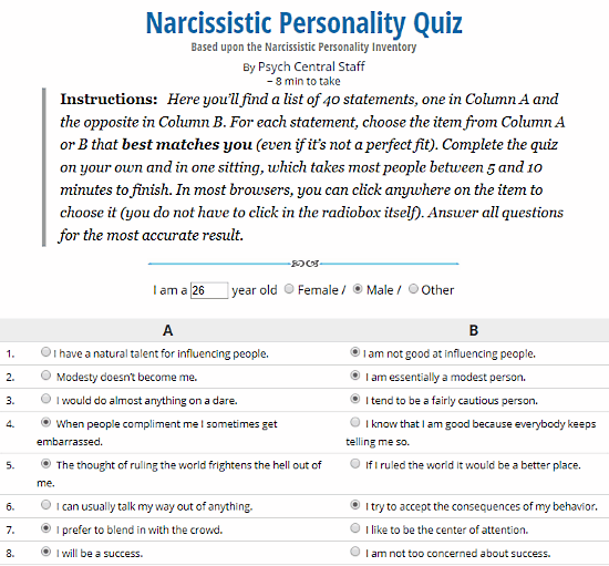 Am I Narcissistic? Find out With These 5 Online Narcissistic
