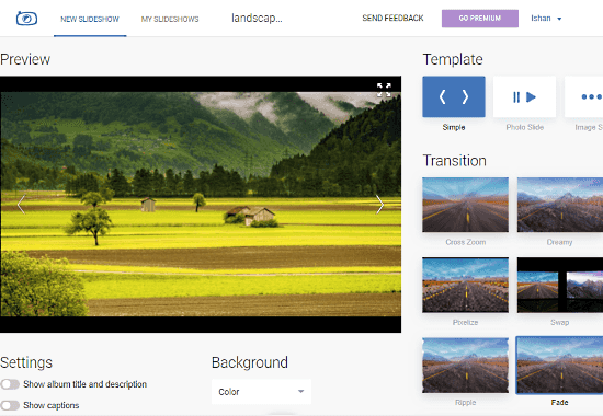 PhotoSnack: slideshow maker with music and effects