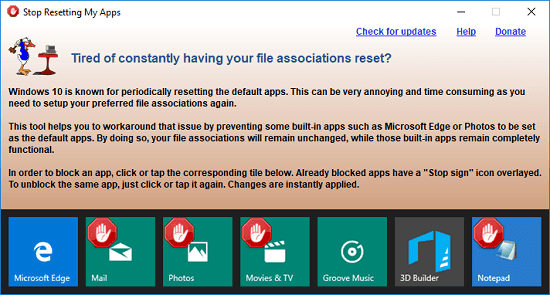 How to Prevent Windows 10 to Set Built-in Apps as Default Apps