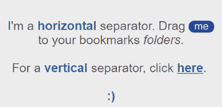 use horizontal separator