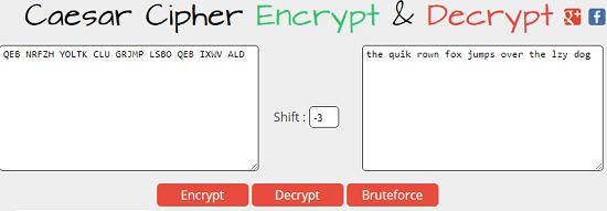 Caesar Cipher Encrypt & Decrypt