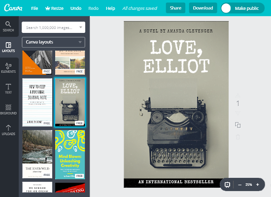 Canva: Online Book Cover Maker