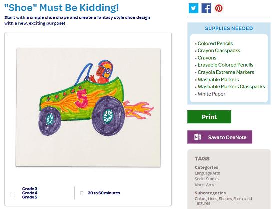 online art lesson plan