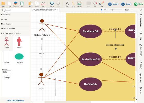 Creately: online Use Case Diagram