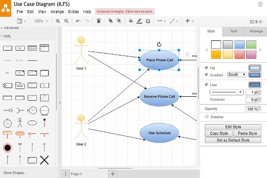 Draw.io: Use Case Diagram Online