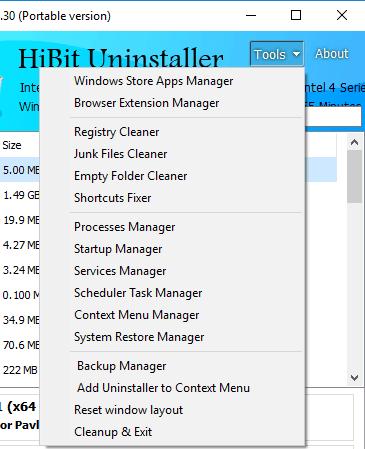 HiBit Uninstaller other tools