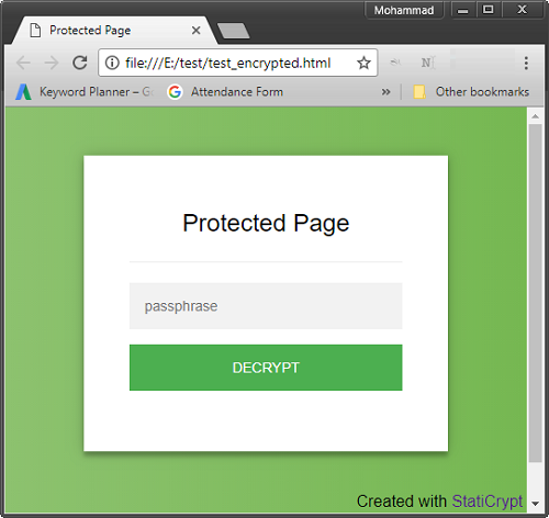 How to Password Protect a Static HTML Page