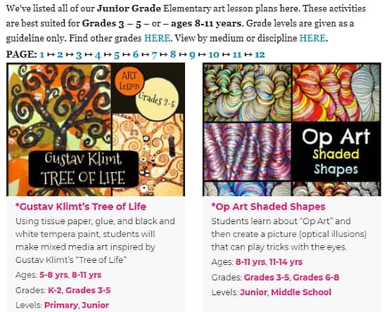 art lesson plan online