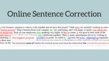 5 Online Sentence Correction Websites Free