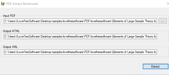 PDF-Extract-Bookmarks- interface