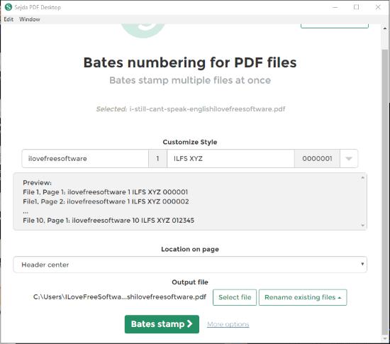 Sejda PDF Desktop- interface