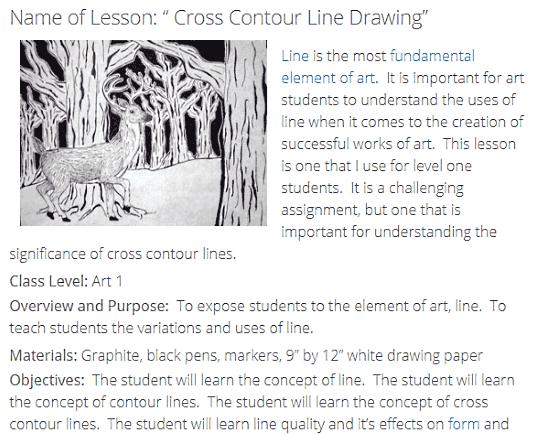 online art lesson plans