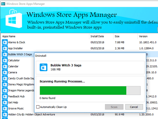 Windows store apps manager