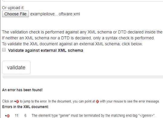 XML Validation
