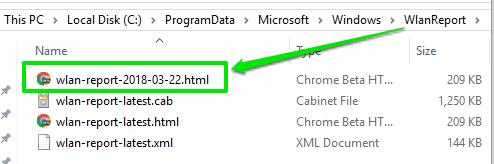 access wlan html report