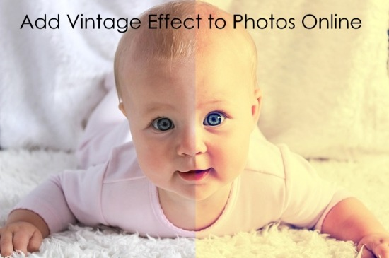 add vintage effect to photos