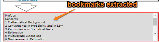 bookmarks extracted