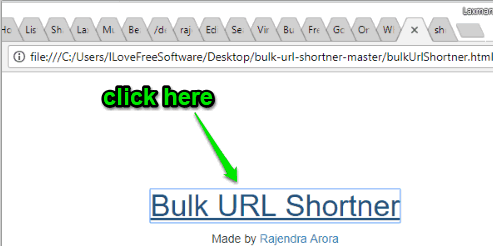 click bulk url shortner link