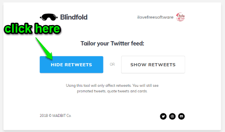 click hide retweets button