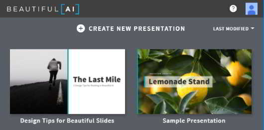 create new presentation