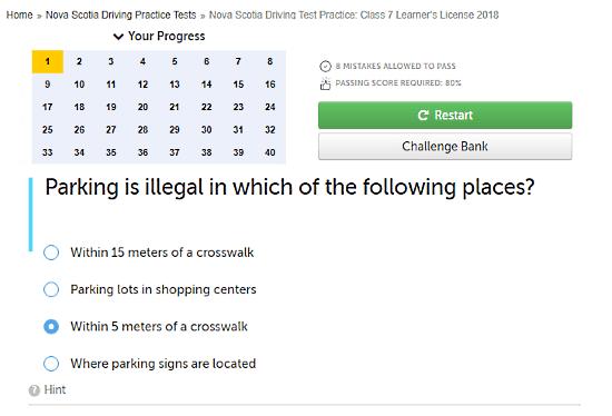 online DMV practice test