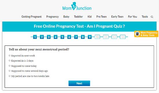 online pregnancy test