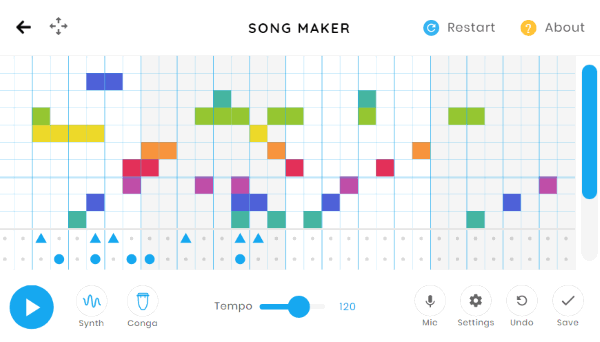 Free Online Pattern Based Music Maker: Chrome Music Lab