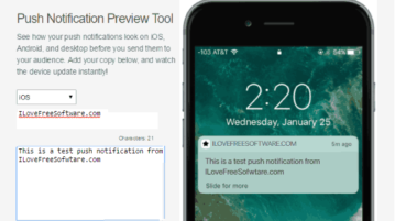 push notification preview tool