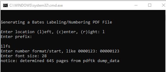 set location, prefix, numbrmat etc