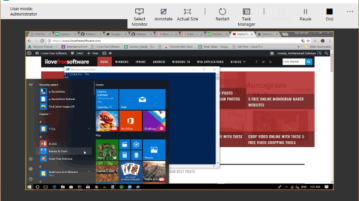 share windows 10 screen using built-in tool
