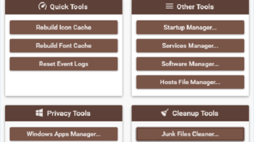 software with App manager, Startup manager, uninstaller, junk cleaner