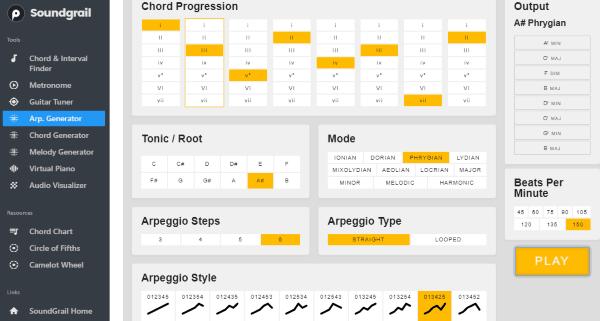 5 Free Online Arpeggio Generator to Create Arpeggio Melodies