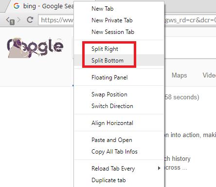 sushi browser split tabs