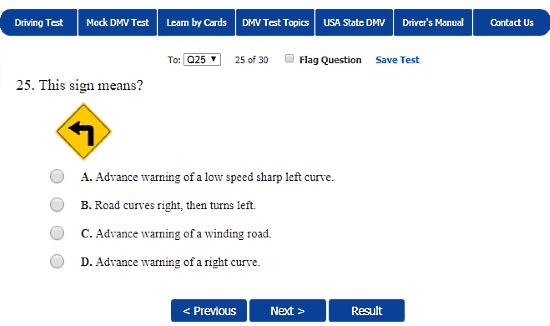 online USA DMV practice test free