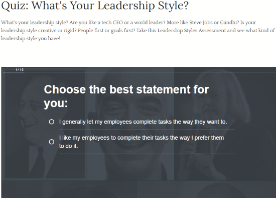 picture relating to What Kind of Leader Are You Printable Quiz referred to as Notice What Is Your Management Layout: 5 Perfect Management Design