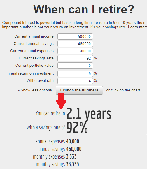 when can i retire early retirement calculator