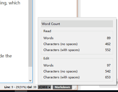 word count feature