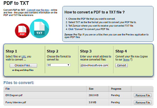 Convert PDF to TXT