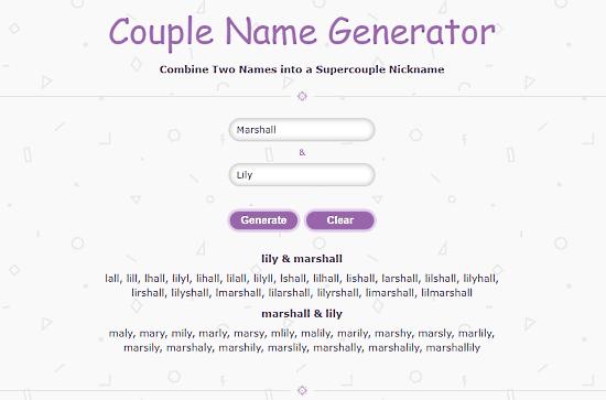 Free Couple Name Generator Website
