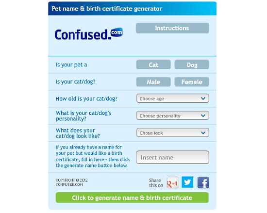 pet name generator