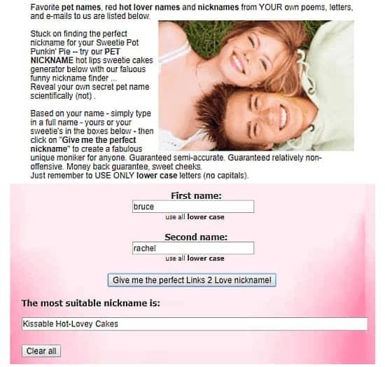 sweet couple name generator